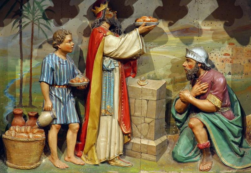 아브라함에게 떡과 포도주로 복을 빌어준 멜기세덱